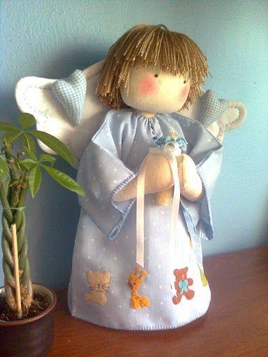 Flores & Mimos: Anjinho em Tecido