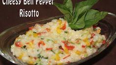 Cheesy Bell Pepper Risotto | Italian Dish | Vegetarian Recipe | Jain Recipe | Simply Jain