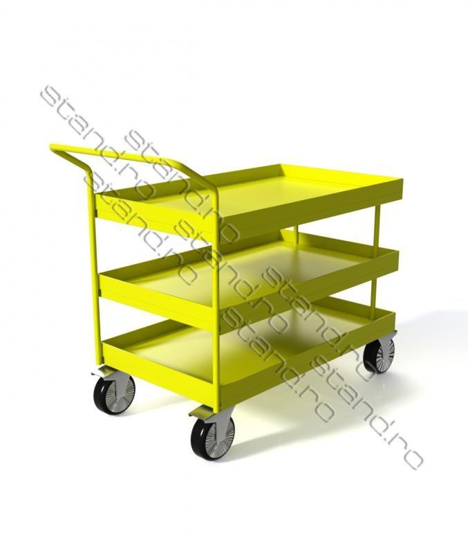 Carucior industrial de marfa www.stand.ro