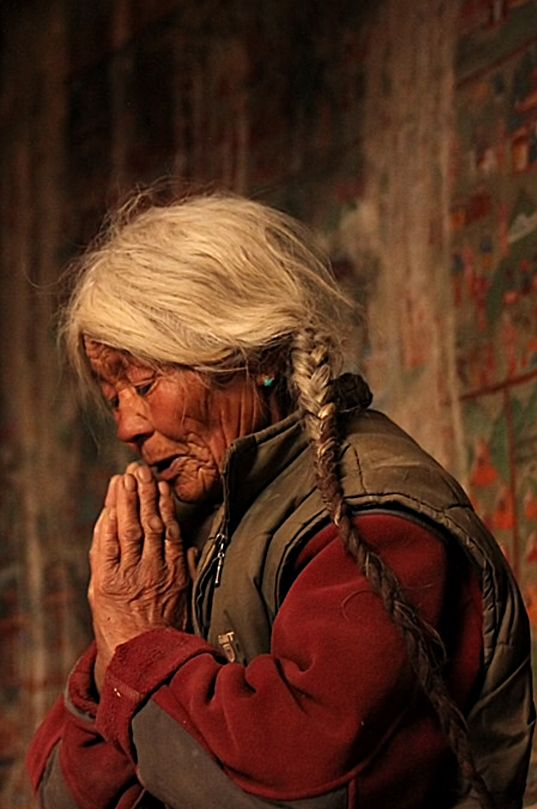 Prayers . Lamayuru Gompa . Tibet