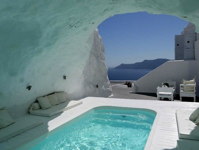 Pools that I want to visit and swim in - Katikies Hotel, Oia, Santorini, Greece