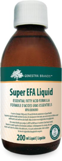 Super EFA Liquid by Genestra s a unique blend of fish oils from sardine and anchovy to specifically assist support cognitive health and brain function and to maintain overall cardiovascular health, particularly in reducing high serum triglycerides/triacylglycerols levels.