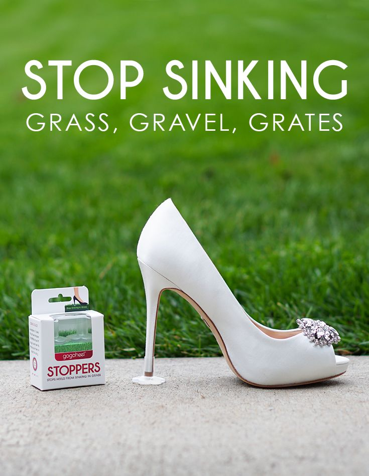 Protects heel from sinking into grass & cracks.