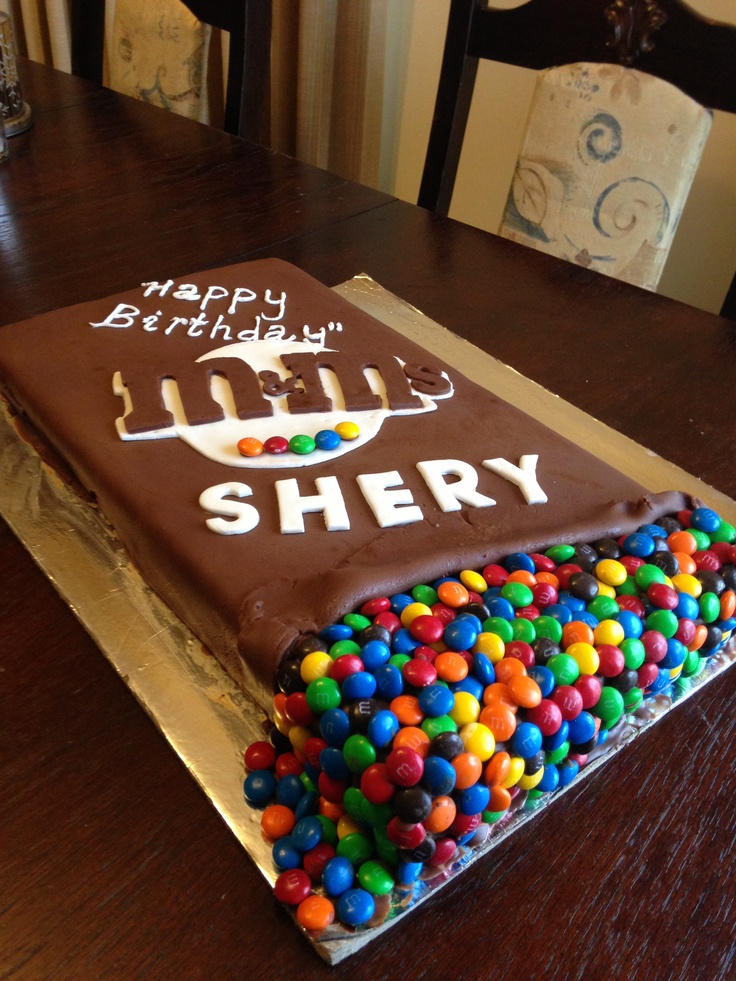 Best MM Party Ideas Images On Pinterest Birthday Party - M and ms birthday cake