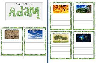 A Muslim home school: Prophet Adam Story Plan Poster!