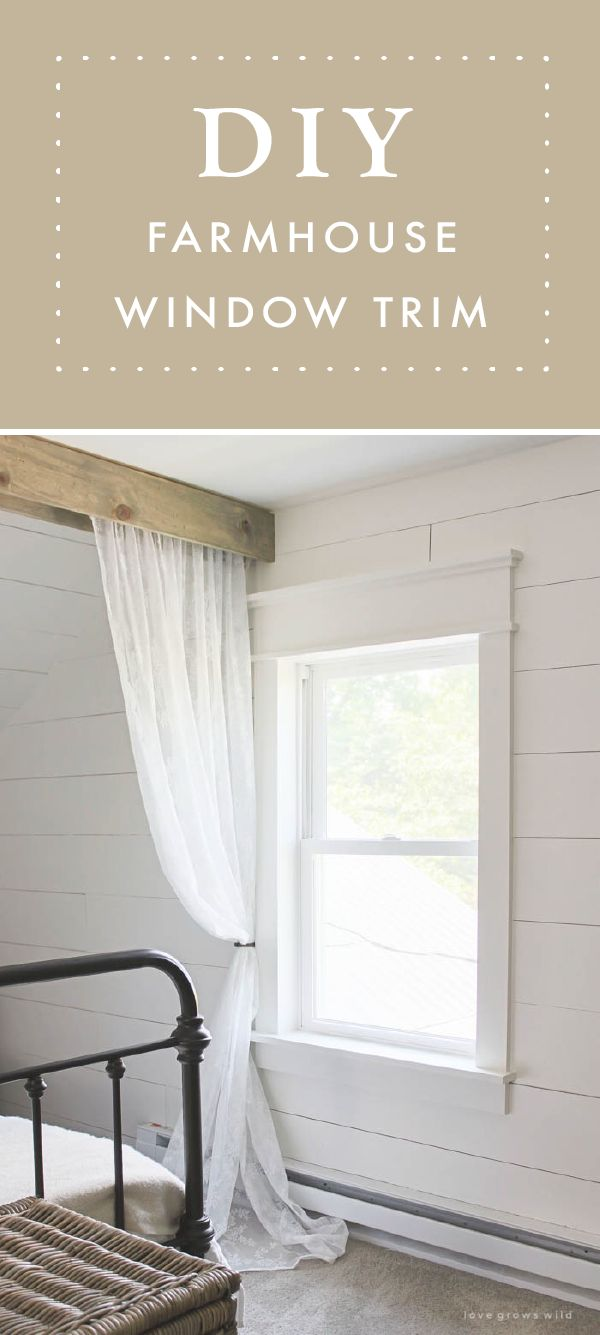 Farmhouse Window Trim Diy Home Decor Pinterest