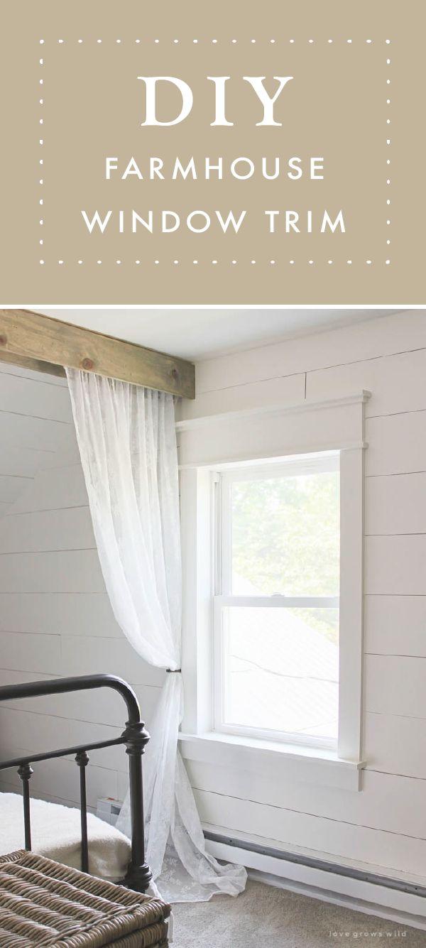 Farmhouse Window Trim DIY Home Decor Farmhouse Trim