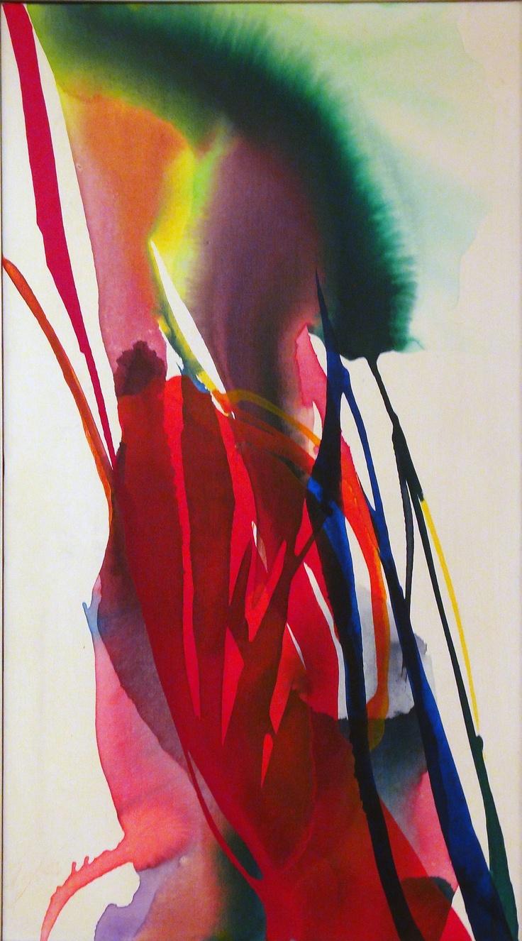 "Paul Jenkins Oil on canvas  36 1/2 x 20 1/2 """
