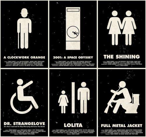 Kubrick Pictogram Posters by Viktor Hertz