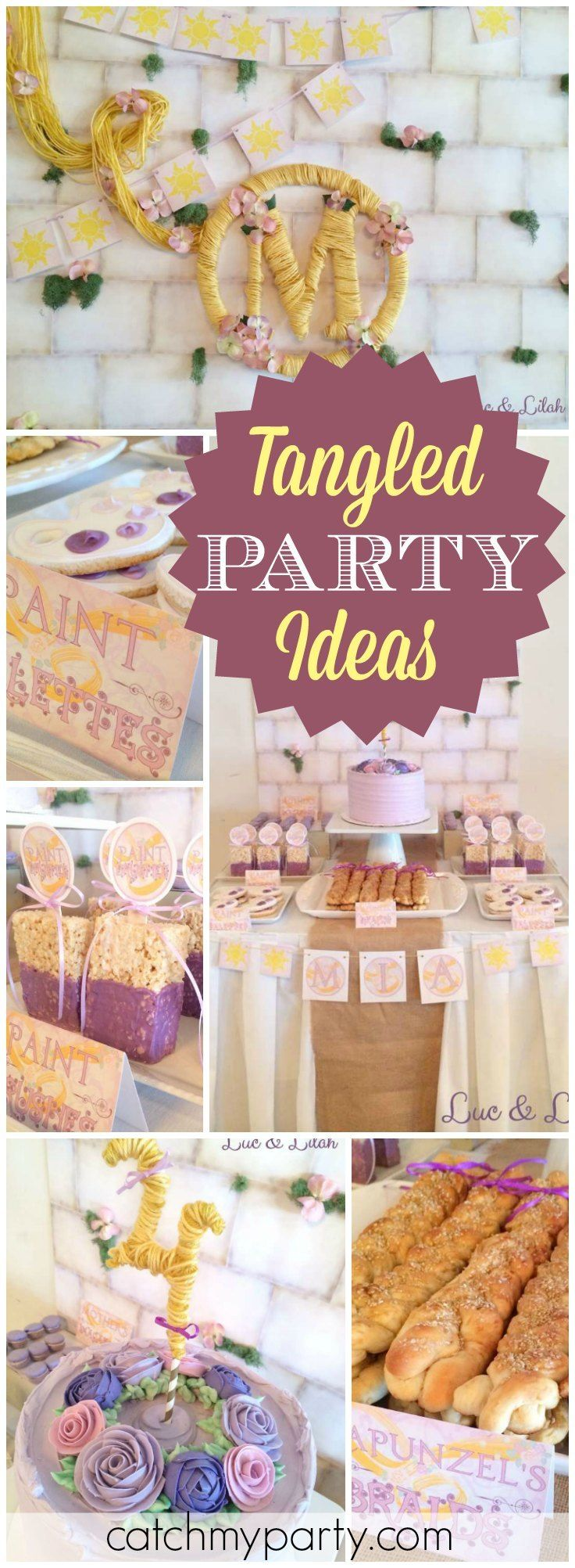 You have to see this amazing Tangled birthday party! See more party ideas at CatchMyParty.com!