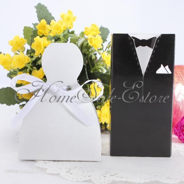 100pz Scatole Regalo Bomboniera Confezione Matrimonio Per Festa Di Nozze | eBay