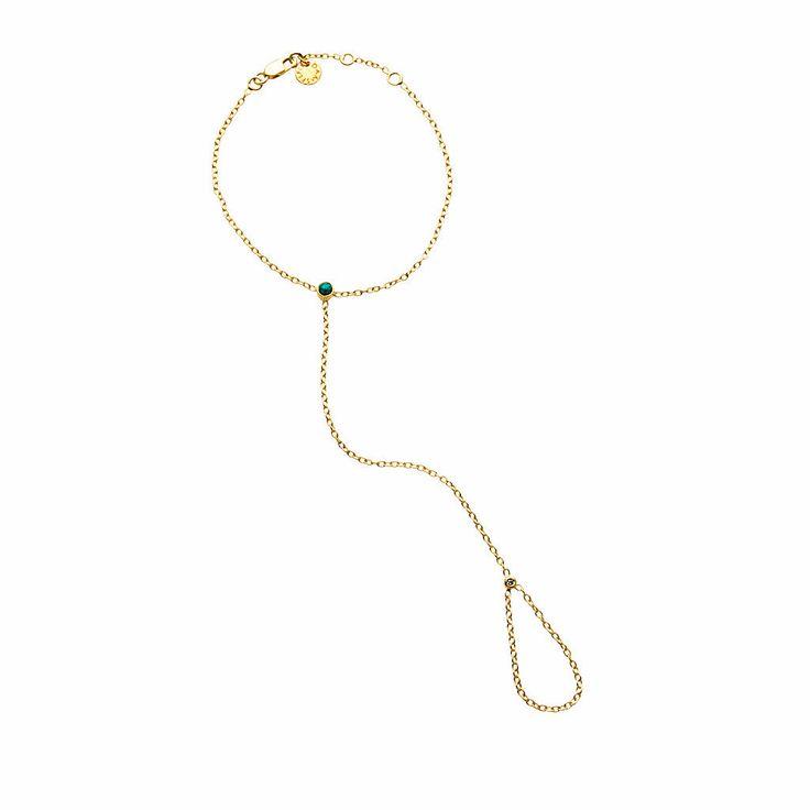 Lyra Hand Chain / Turquoise from D A M S E L F L Y