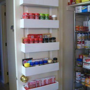 Inside Pantry Door Spice Rack