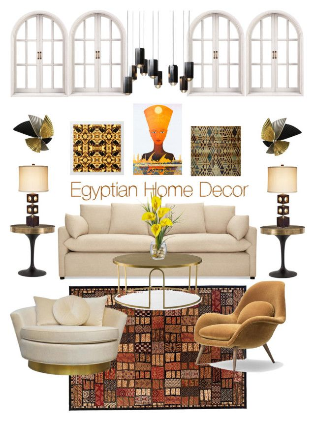 Egyptian Home Decor by michele-nyc on Polyvore featuring interior, interiors, interior design, home, home decor, interior decorating, Fredericia, Andrew Martin, Arteriors and Maitland-Smith