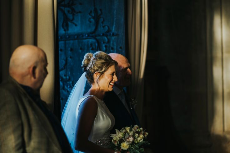 Gorgeous natural makeup, elegant hair up with pretty hair piece and beautiful veil = perfect. Photo by Benjamin Stuart Photography #weddingphotography #bride #weddingmakeup #weddinghair #hairup #veil #weddingdress #winterwedding #churchwedding