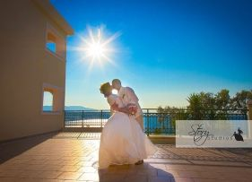 Real Zakynthos Wedding Photos - The Balcony - Helen and Paul Radcliffe