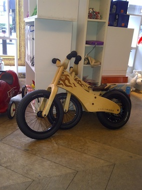 Bikes spotted in Zut toy shop, Knokke, Belgium
