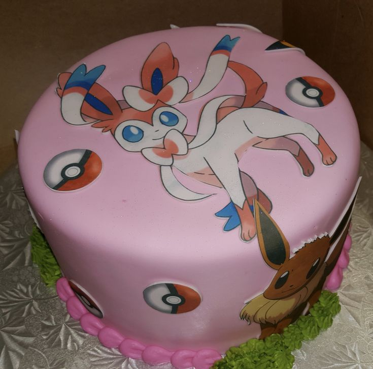 Calumet Bakery Girls Pokemon Cake