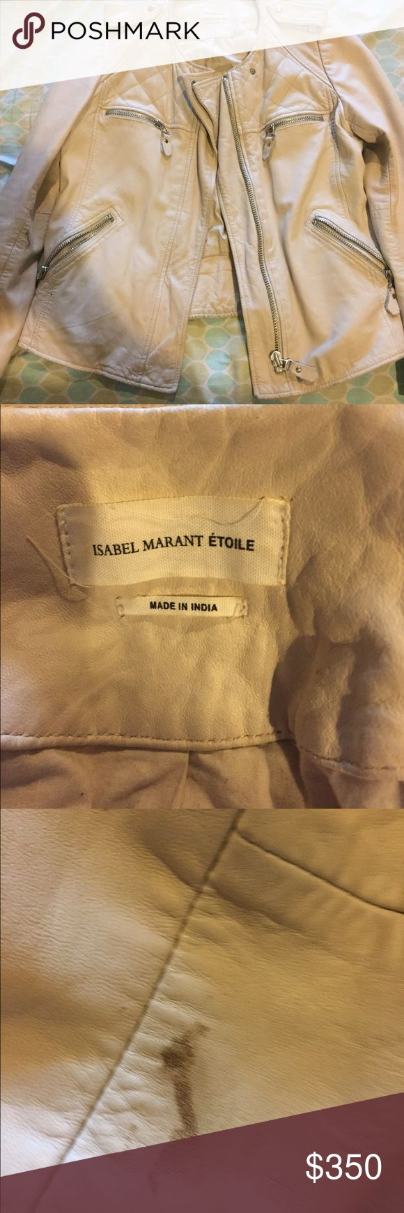 Isabel Marant Etoile Lambskin Leather Jacket Barely worn. Small stain on inner arm. Purchased at barneys Isabel Marant Jackets & Coats