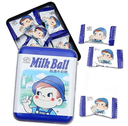 poko milk ball candy! wrappers are transparent