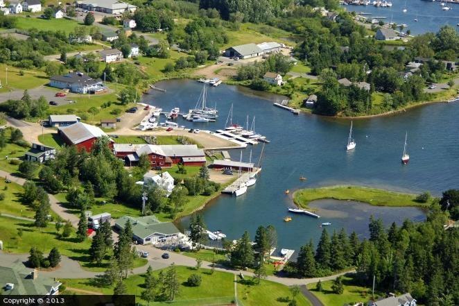 Cape Breton Boatyard in Baddeck, Nova Scotia, Canada