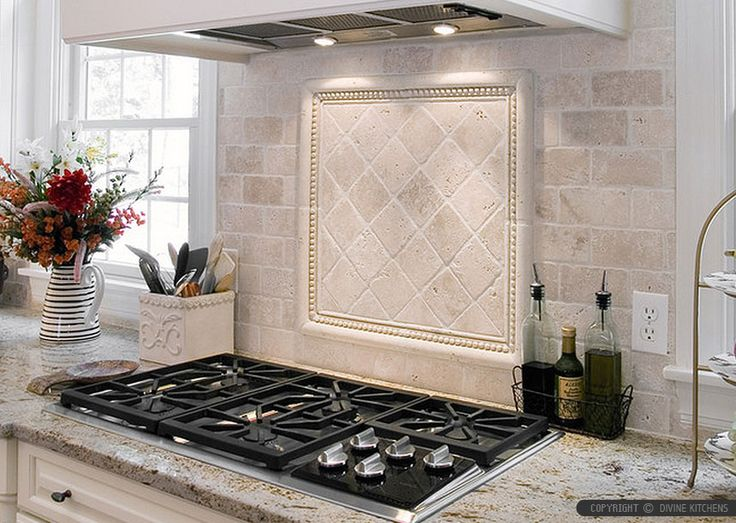 ivory travertine backsplash tile cabinet countertop from backsplash