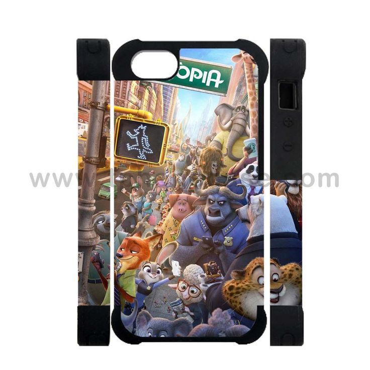 iPhone 5 5s SE soft full body Made by hard PC and soft TPU Design With Zootopia