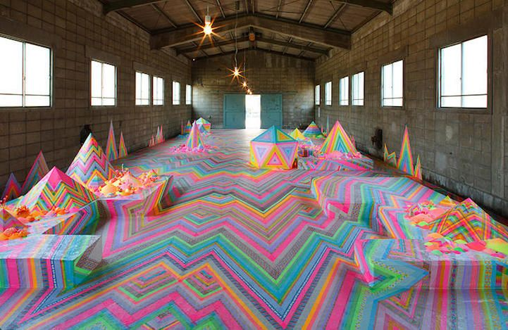 Spectacular Floor Installations Made of Candy and Other Colorful Objects - My Modern Met