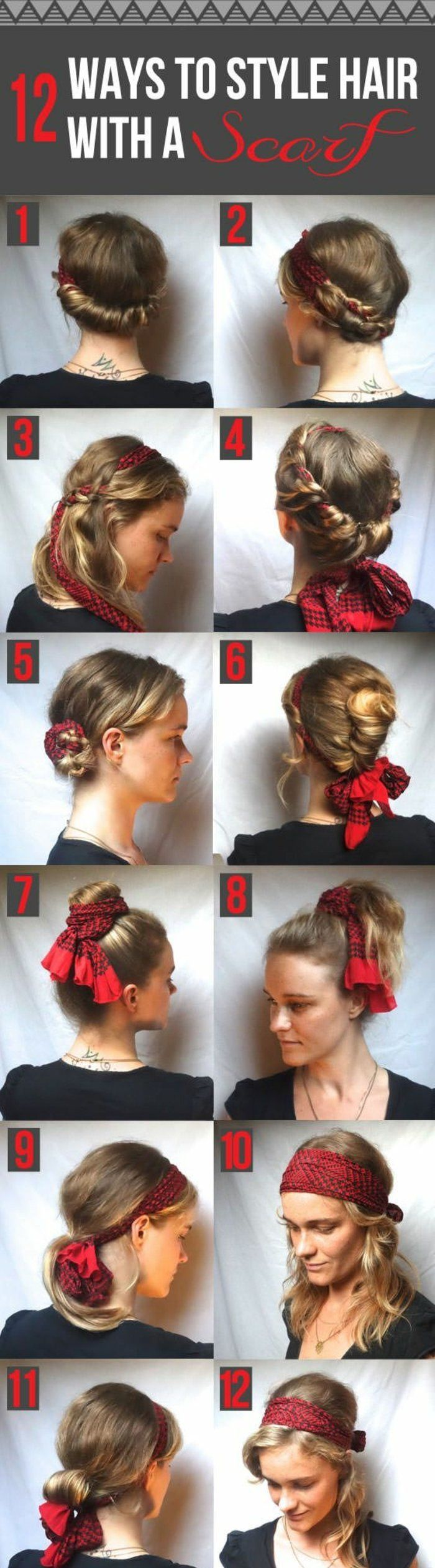 1000 Ideas About Coiffure Avec Foulard On Pinterest Foulard