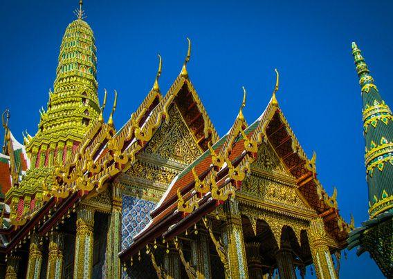 Gouden tempel, Wat-Phra-Kaew, Thailand