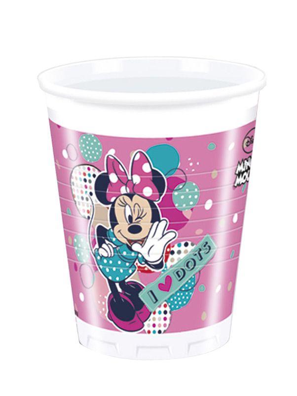 8 Bicchieri di plastica con stampa Minnie™ su VegaooParty, negozio di articoli per feste. Scopri il maggior catalogo di addobbi e decorazioni per feste del web,  sempre al miglior prezzo!