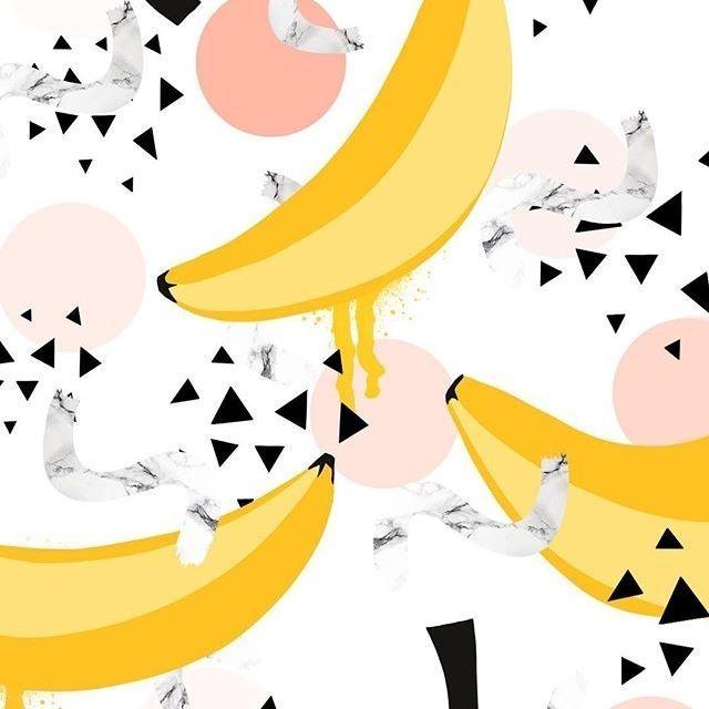 diedododa Banana print is being played with! ...or is it a yellow bird with legs and a hat? Who knows... #print #pattern #patterndesign #banana #fruit #tropical #pastel #marble #designermaker #artist #artprint #wallart #maximalist #creativelife #interior #creativeedi #edinburgh #diedododa #surfacespatterns