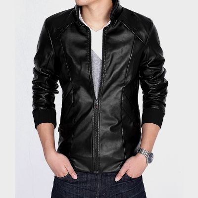 Motorcycle PU Leather 2015 Spring And Autumn Jacket Leather Coat Men Outerwear Male Slim Biker Erkek Deri Mont