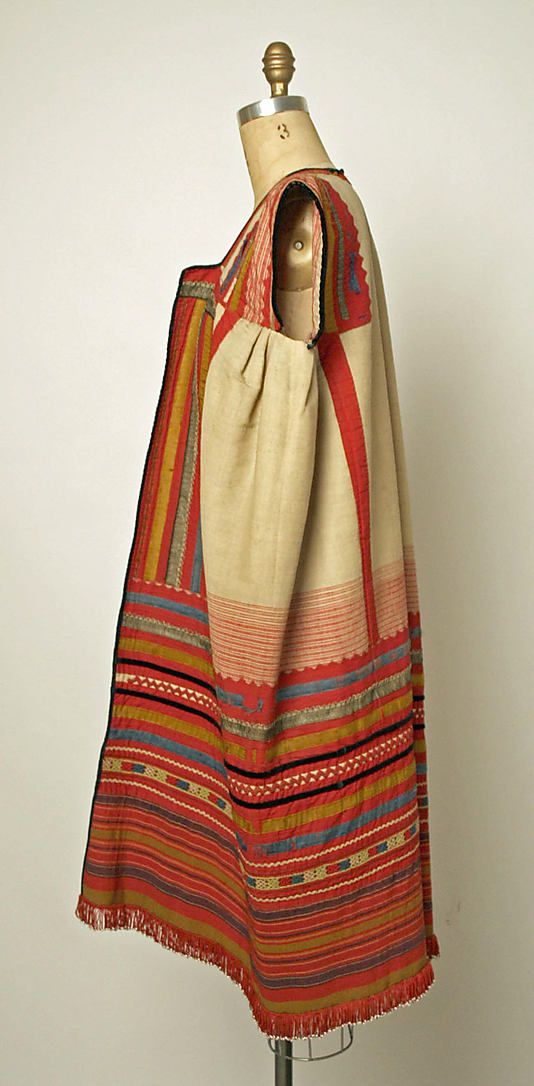 Ensemble Date: 1800–1939 Culture: Russian Medium: linen, cotton, leather