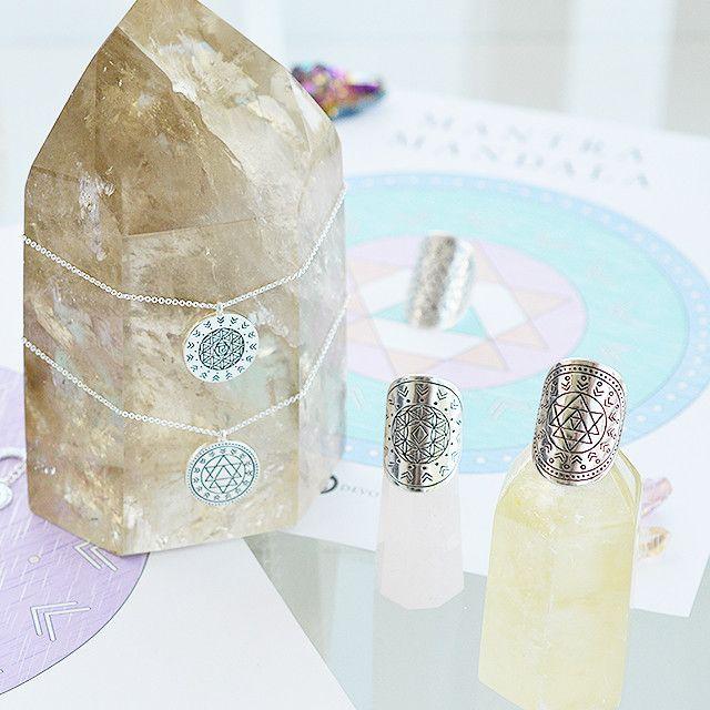 Mantra Mandala Ring | Meditation Jewelry | Tiny Devotions