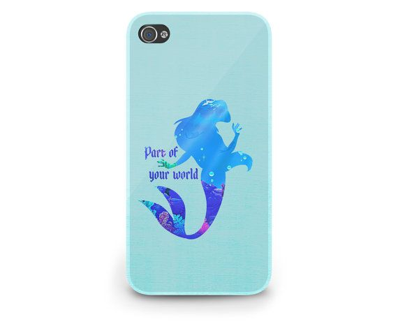 Ariel Quote Little Mermaid Disney - Hard Cover Case iPhone 5 4 4S 3 3GS HTC Samsung Galaxy Motorola Droid Blackberry LG Sony Xperia & more on Etsy, $22.99