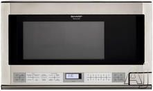 Sharp R1214T  1.5 cu. ft. Over the Counter Microwave Oven with 1,100 Cooking Watts, Defrost Center, Interactive Cooking System and Auto-Touch Control Panel: Stainless Steel  $317.27