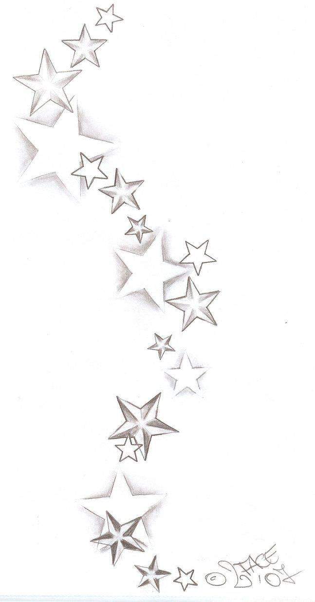 Tattooflash Stars Shadings by 2Face-Tattoo on DeviantArt