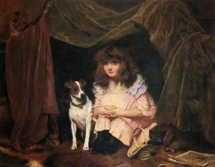 O Esconderijo - Charles Burton Barber ~ Um dos pintores mais incríveis da Inglaterra