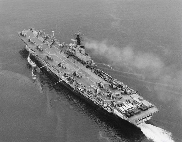 HMS Bulwark, leaving Aden at the end.