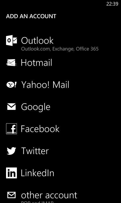 [1] ADD ACCOUNT [ii] Outlook