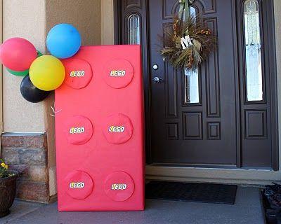 Lego birthday ideasBirthday Parties, Welcome Signs, Lego Parties, Front Doors, Lego Birthday, Parties Ideas, Birthday Party Ideas, Themed Parties, Birthday Ideas