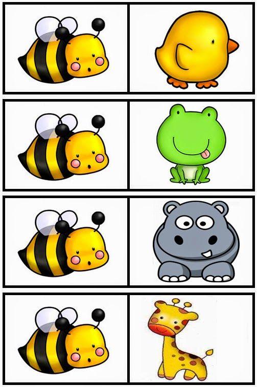 Atividades prontas para imprimir: Jogo educativo: dominó de animais!
