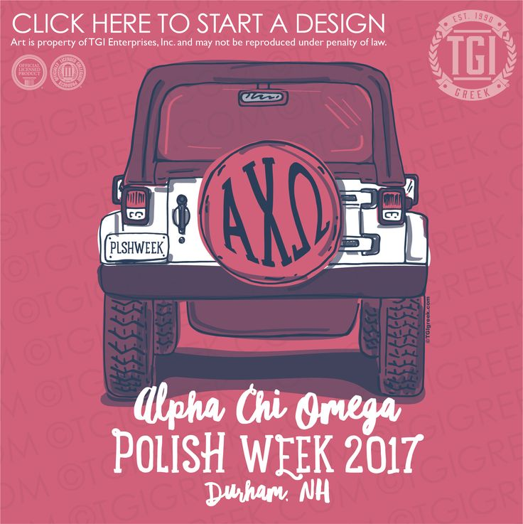 Alpha Chi Omega | AΧΩ | Polish Week | TGI Greek | Greek Apparel | Custom Apparel | Sorority Tee Shirts | Sorority T-shirts | Custom T-Shirts