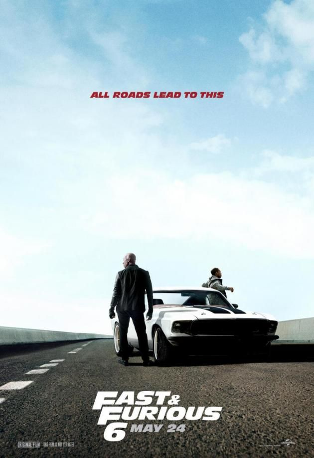 Fast And Furious 6 Poster Drops Tyrese Gibson And Ludacris Fast And Furious Furious 6 The Furious
