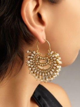 Pearl Jhumka Earrings
