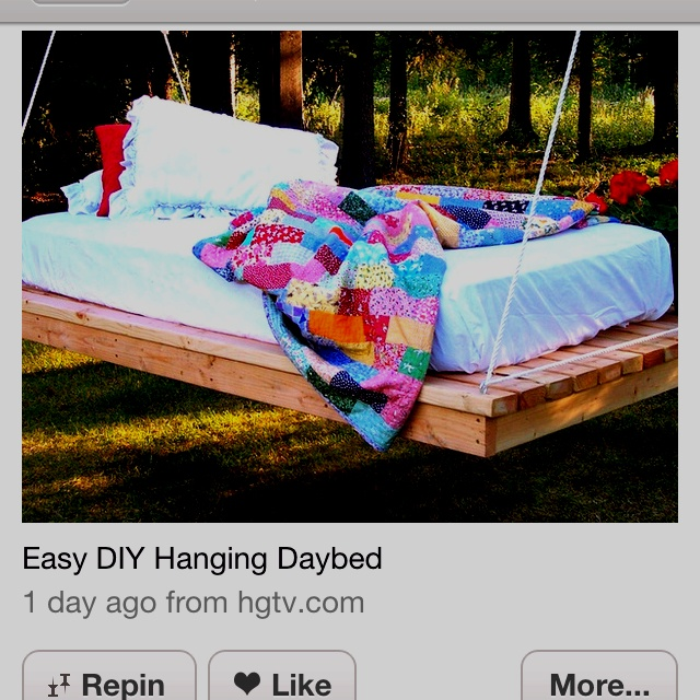 Pallet hammock bedOutdoor Beds, Ideas, Hanging Beds, Dreams, Hammocks, Beds Swings, Diy, Backyards, Swings Beds