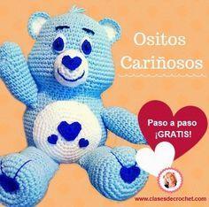 Osito Amoroso o Cariñoso Amigurumi - Patrón Gratis en Español aquí: http://www.clasesdecrochet.com/2015/03/ositos-amigurumis-patron-paso-a-paso-gratis.html
