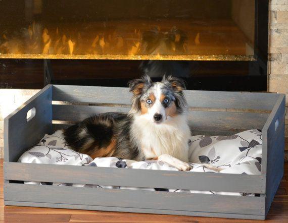 GRAND Lit pour chien Large 25-90 lbs / Coussin par UniqueOMcreation