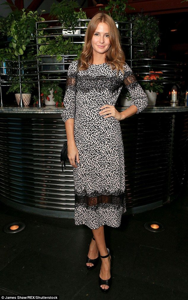 Stunning: Made In Chelsea star Millie Mackintosh looked radiant as she attended…